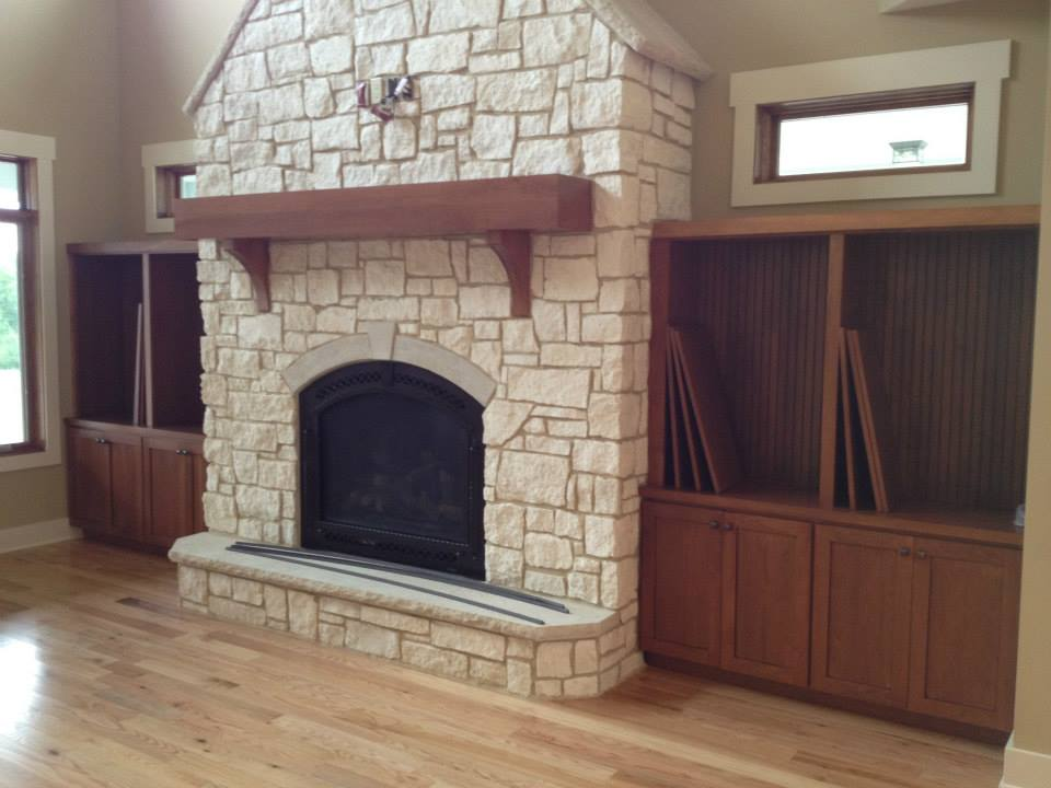 Fireplaces and Book Shelves